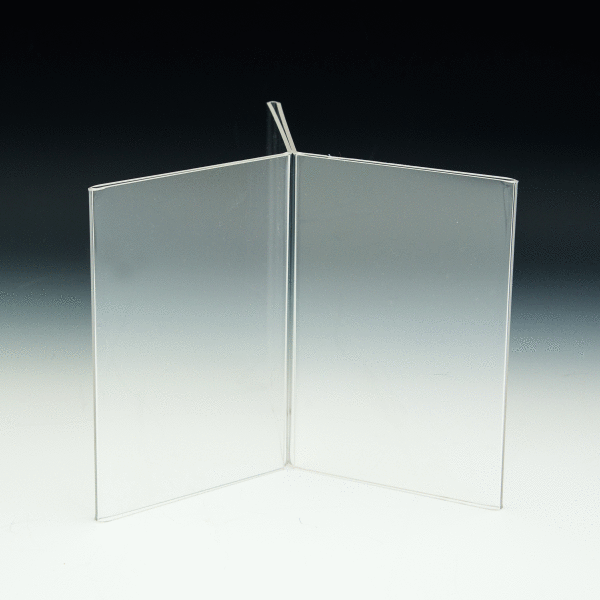 AHS D X X SixSided Table Tent Sign Holder - 4x6 table tent