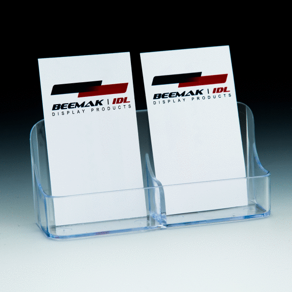 Multi pocket business card holders beemak idl single compartment clear business card holder w 2 pockets colourmoves