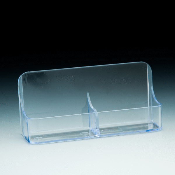 Tk vbc2 single compartment clear business card holder w for Business card holder multiple compartments