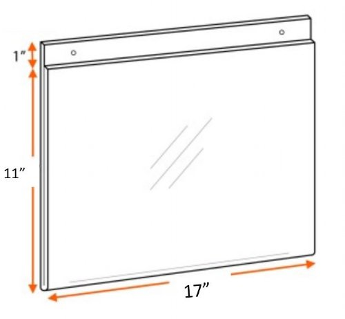 AHS W 17X11 - 17x11 Wall Mount Ad Frame / Sign Holder
